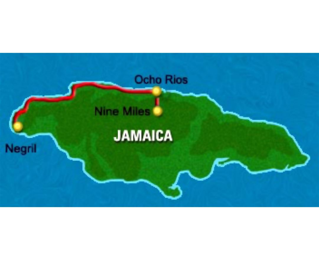 Large map of Jamaica