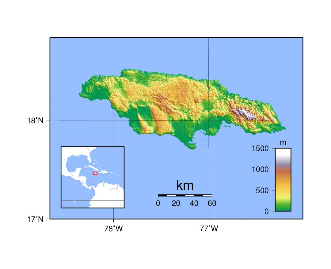 Maps Of Jamaica Detailed Map Of Jamaica In English Tourist Map - Physical map of jamaica