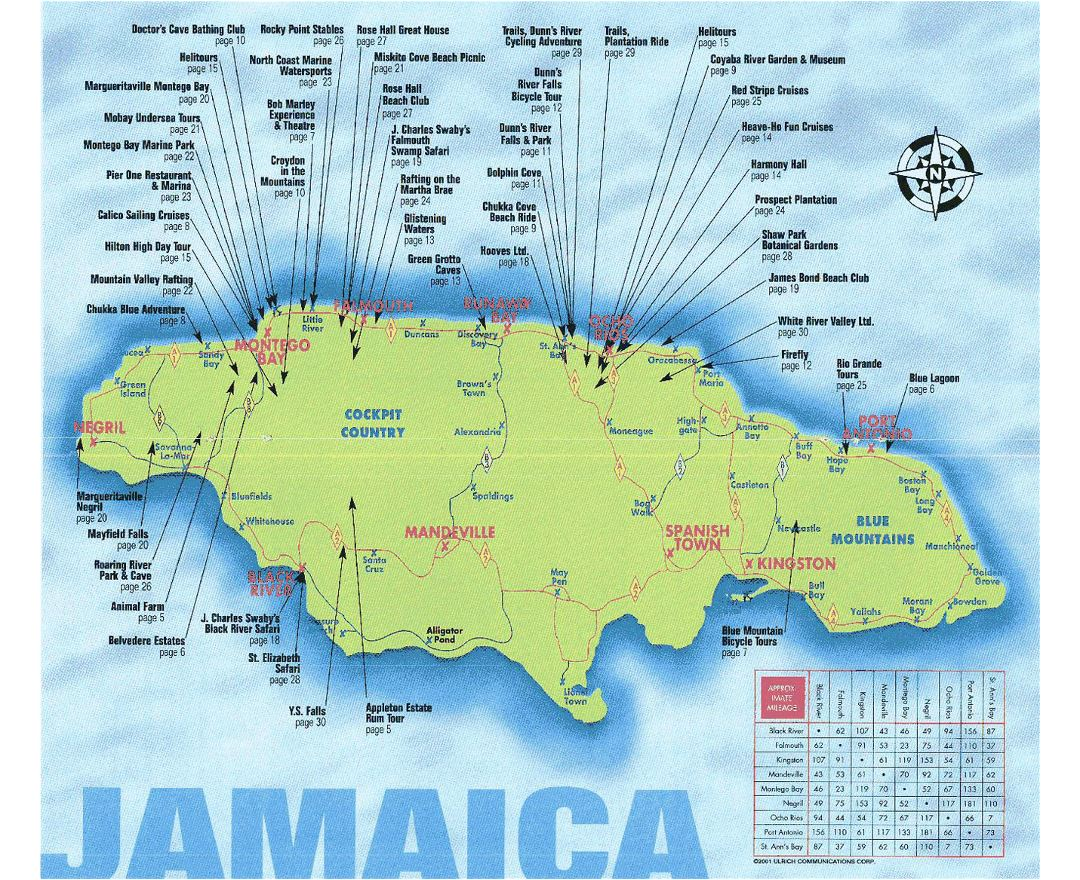 Maps of Jamaica Detailed map of Jamaica in English Tourist map