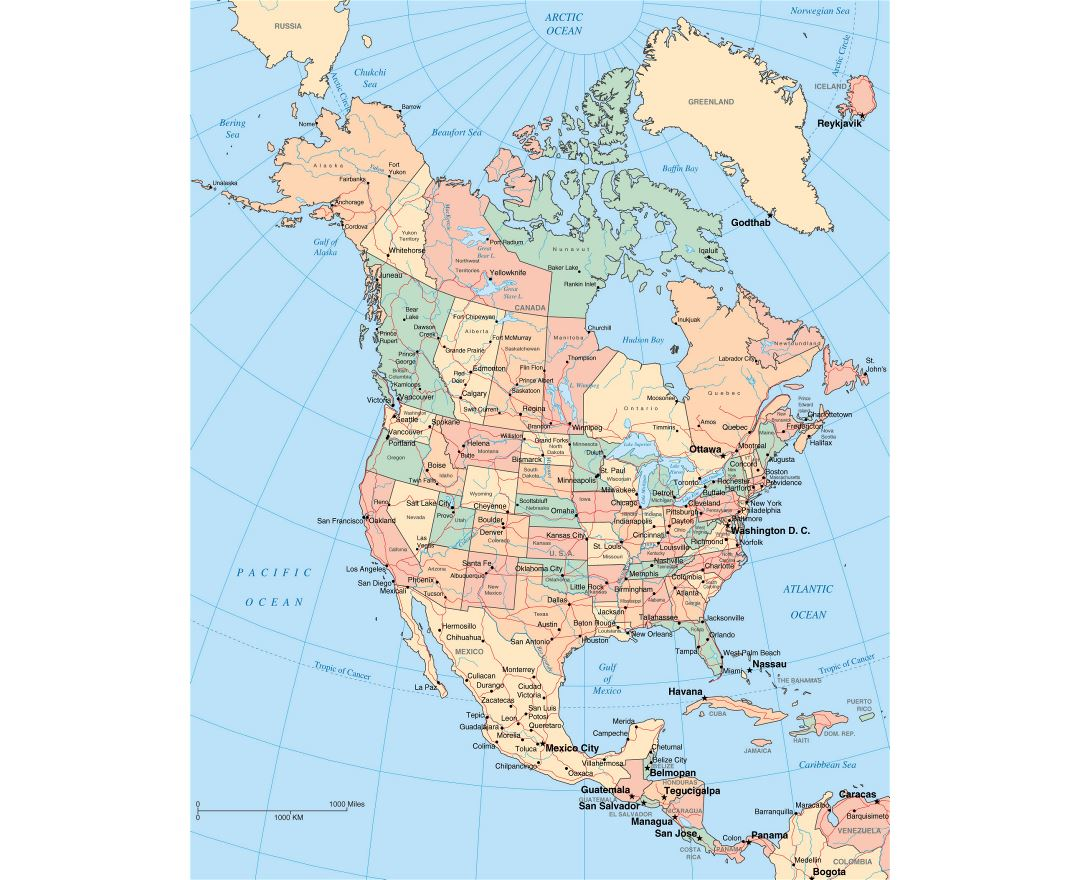Maps of North America and North American countries | Collection of ...