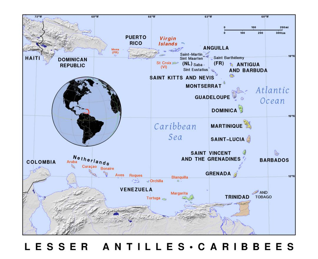 Maps Of Lesser Antilles Collection Of Maps Of Lesser Antilles
