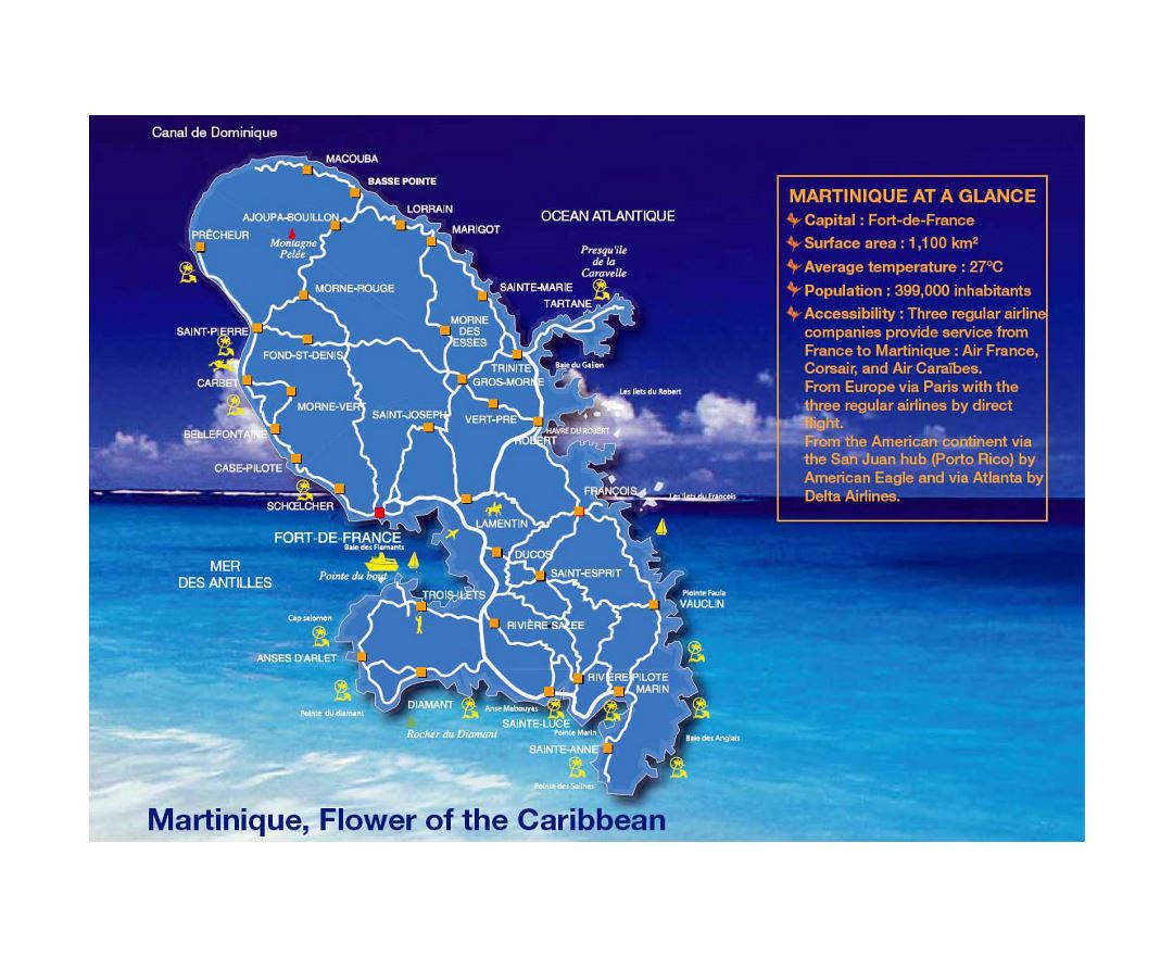 Large map of Martinique