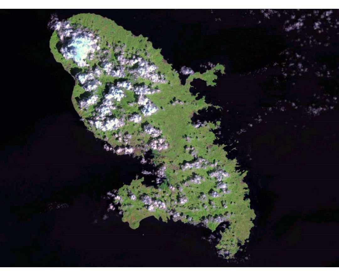 Large satellite map of Martinique