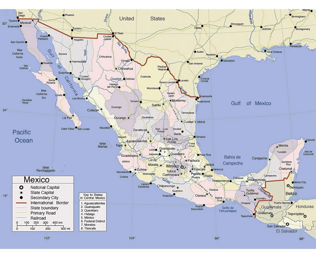 Maps of Mexico | Collection of maps of Mexico | North America ...