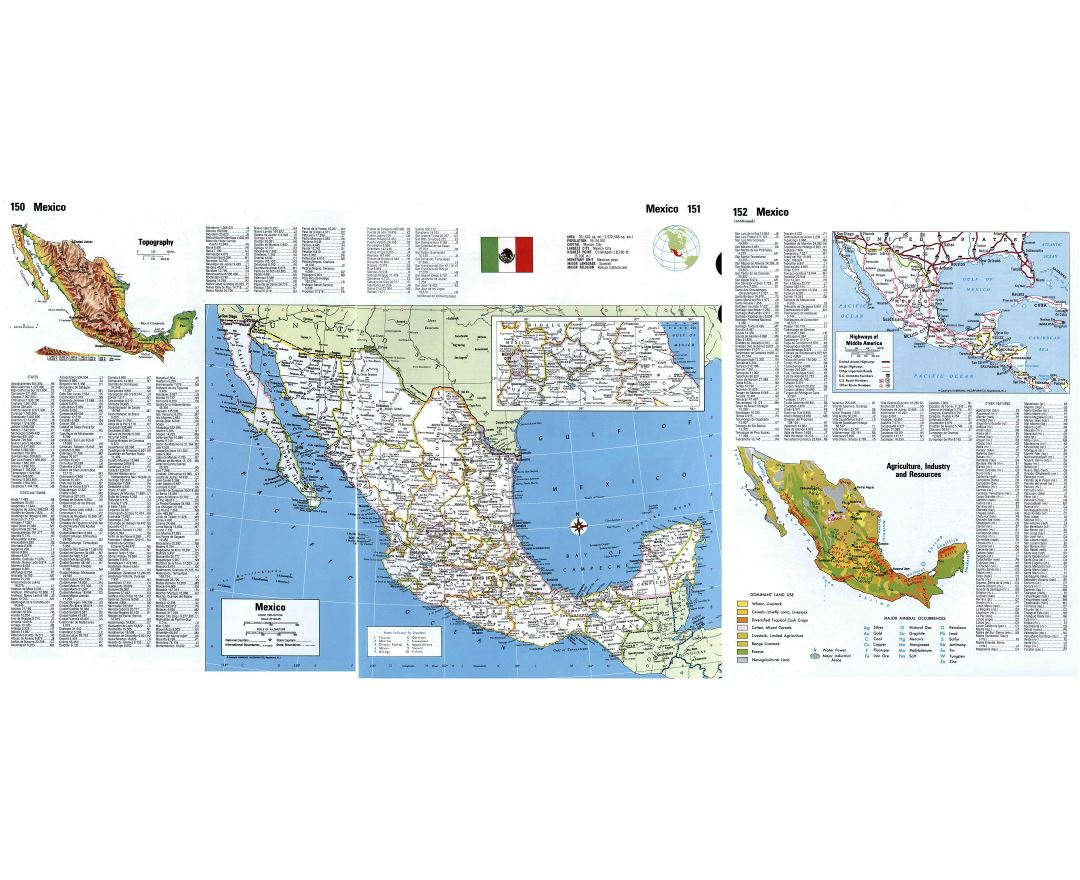 Maps of Mexico Detailed map of Mexico in English Tourist map