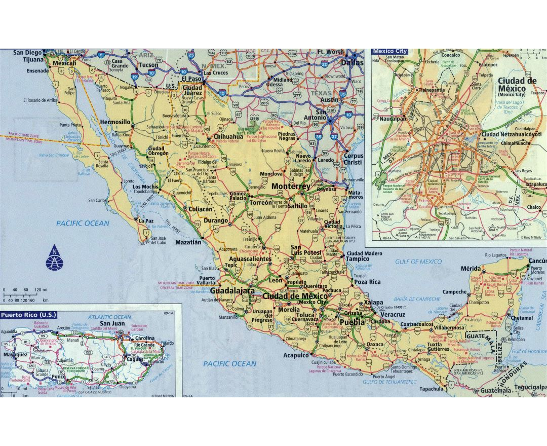 Maps of Mexico | Detailed map of Mexico in English | Tourist map ...