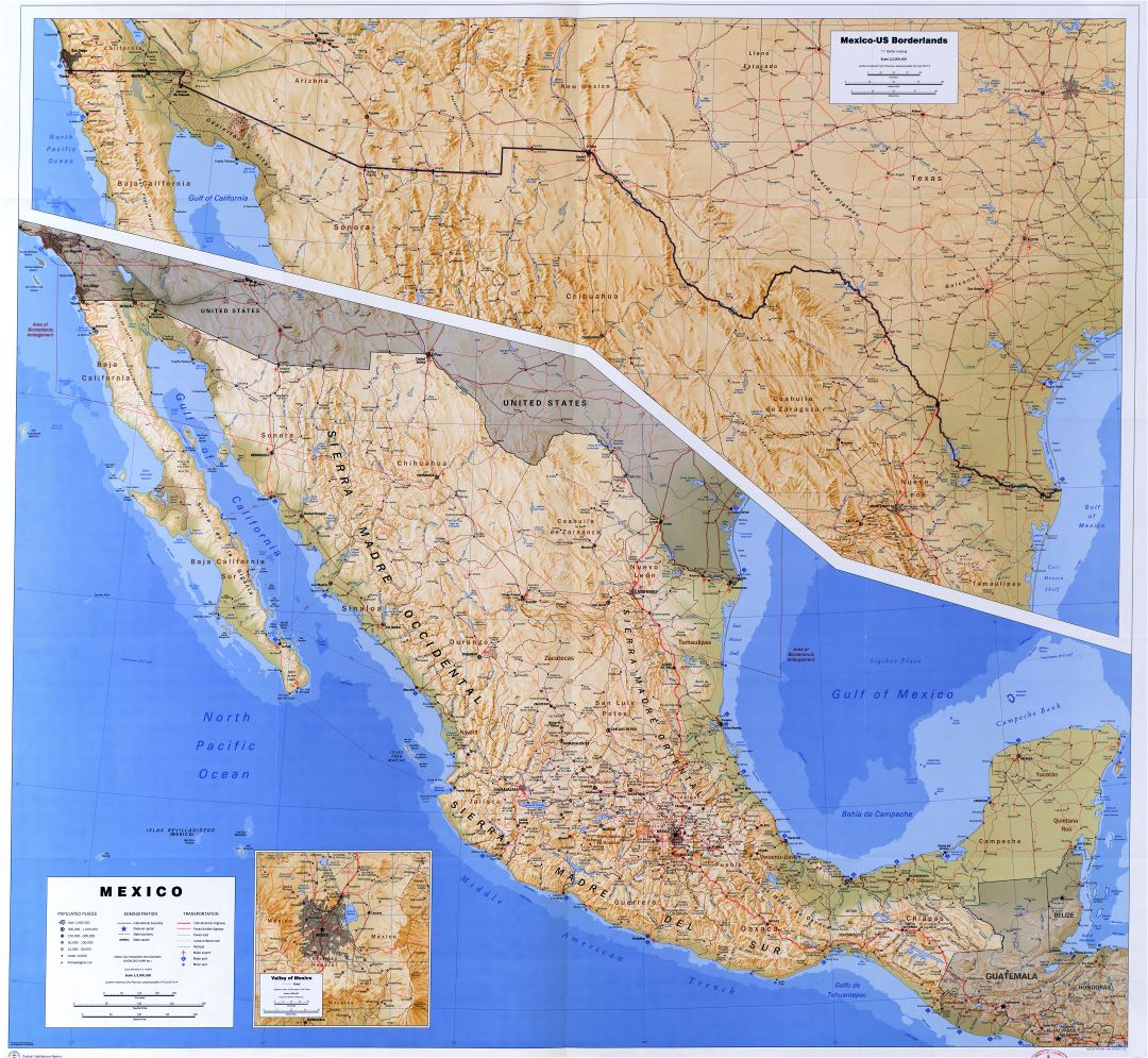 Large Scale Detailed Political And Administrative Map Of Mexico With