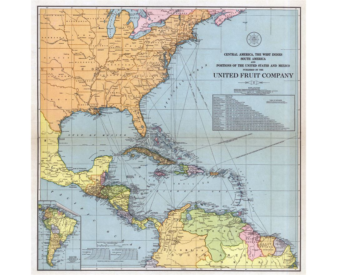 large scale old map of central america the west indies south america and portions