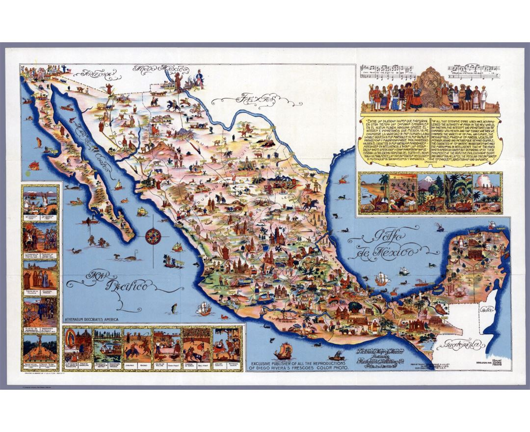 Large Travel Illustrated Map Of Mexico Preview on united states map of capitals