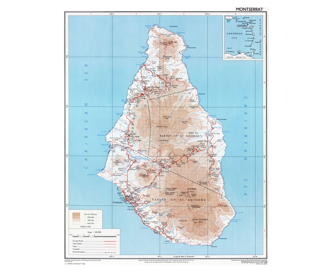 Maps Of Montserrat Island Detailed Map Of Montserrat Island In - Montserrat map