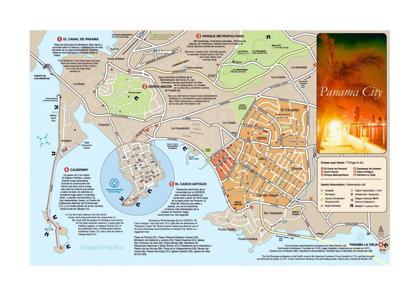 Detailed road map of Panama city   Panama   North America   Mapsland ...