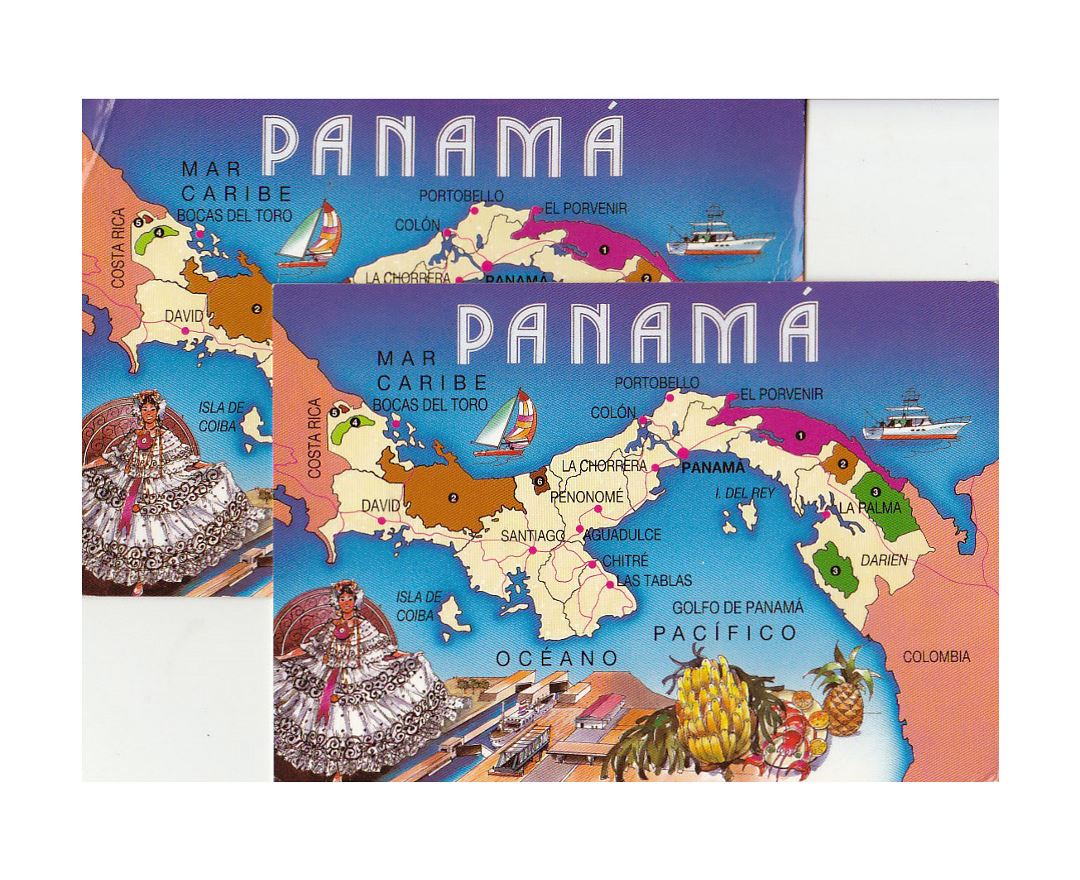Detailed tourist map of Panama