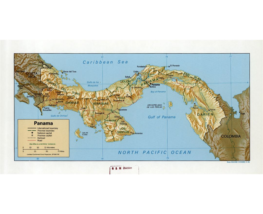Maps of Panama Detailed map of Panama in English Tourist map