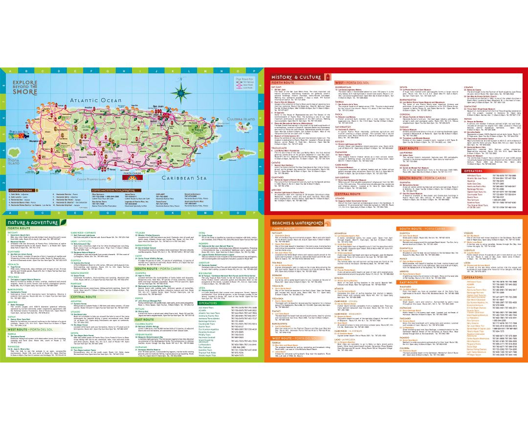 Large detailed tourist map of Puerto Rico