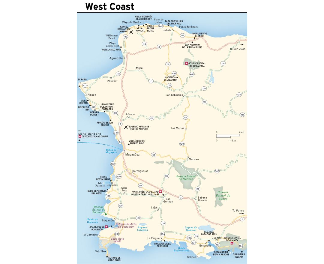 Maps of Puerto Rico   Detailed map of Puerto Rico in English ...