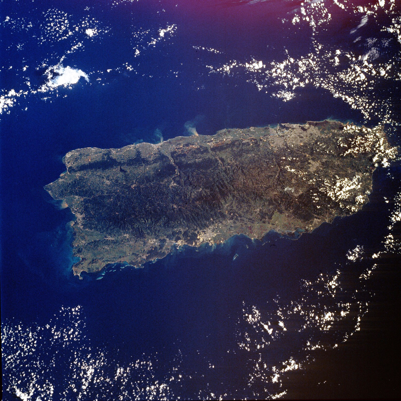 Large Satellite Map Of Puerto Rico Puerto Rico North America