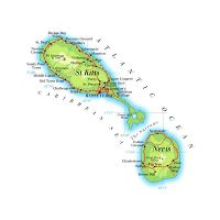 Detailed location map of Saint Kitts and Nevis | Saint Kitts ...
