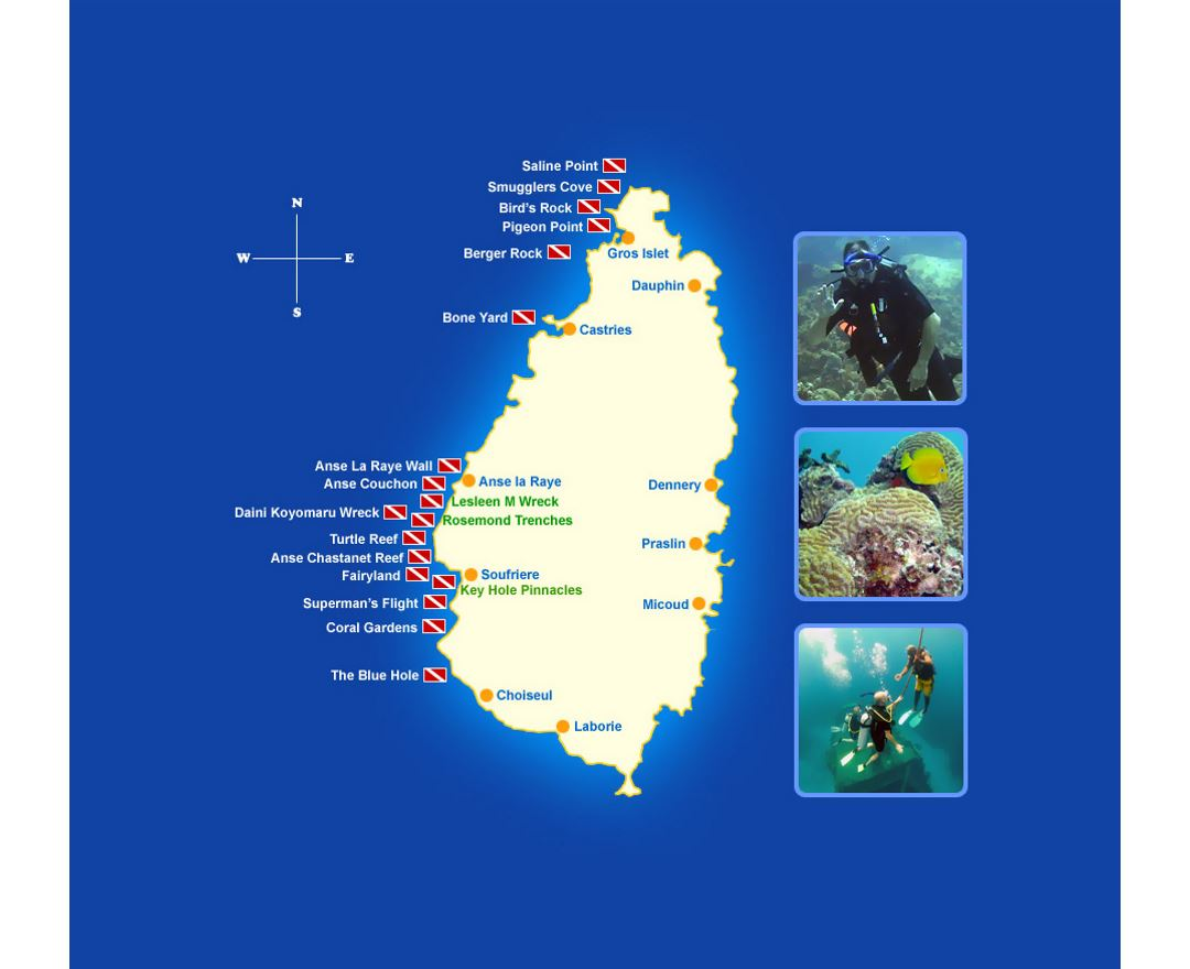 Maps of Saint Lucia   Collection of maps of Saint Lucia   North ...