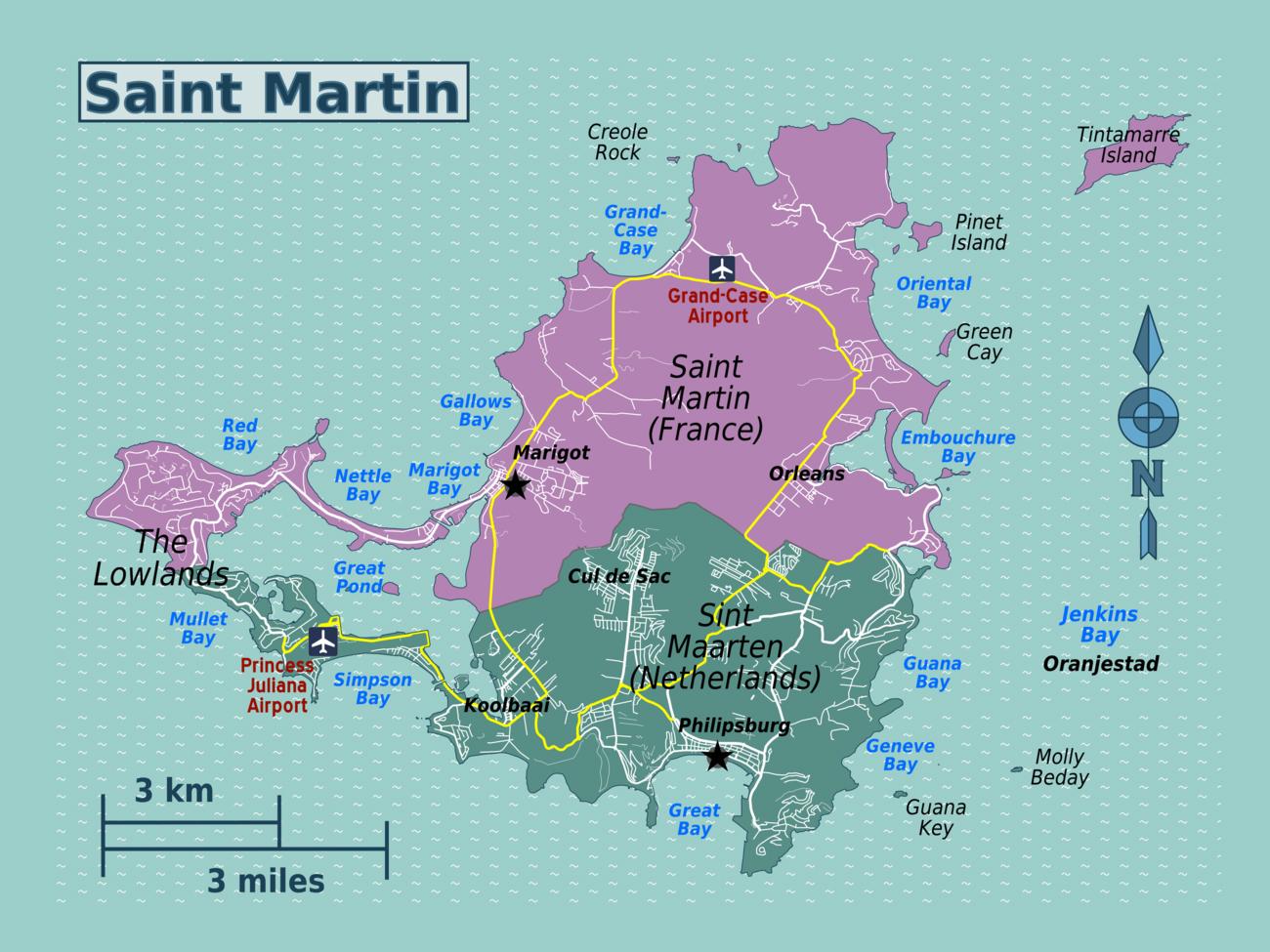 Detailed map of Sint Maarten, Saint Martin with roads ... on aruba map, st. maarten road map, anguilla map, portugal map, guana bay map, bahamas map, st. maarten cruise port map, barbados map, satawal island map, virgin islands map, st. maarten resort map, simpson bay map, caribbean map, st maarten water taxi map, charlotte amalie map, cayman islands map, saint eustatius map, bvi map, canada map, saint lucia location map,
