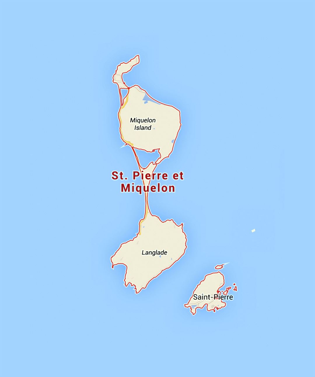 Detailed map of Saint Pierre and Miquelon Saint Pierre and