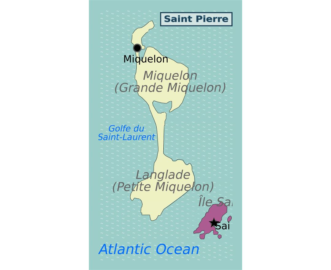 Large map of Saint Pierre and Miquelon