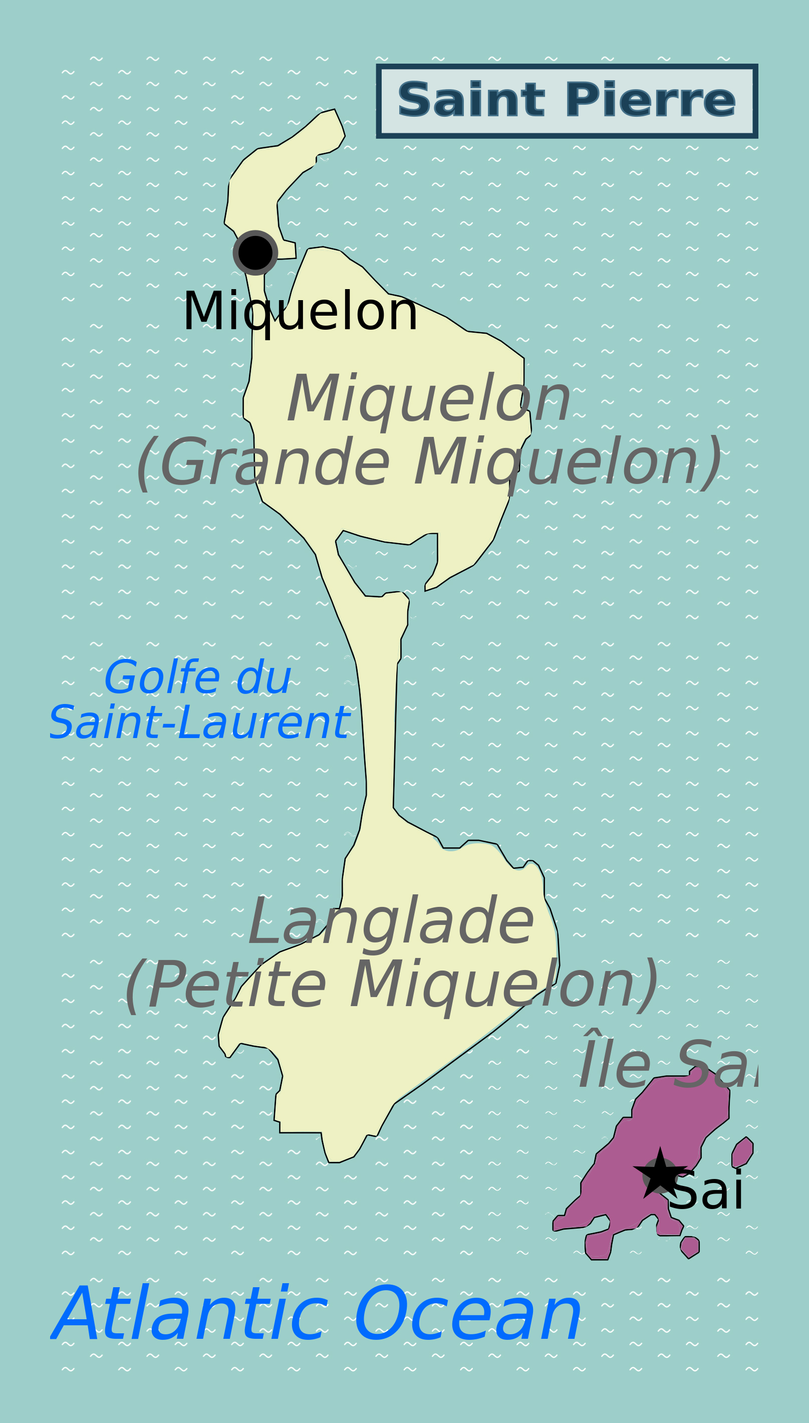 Large map of Saint Pierre and Miquelon Saint Pierre and Miquelon
