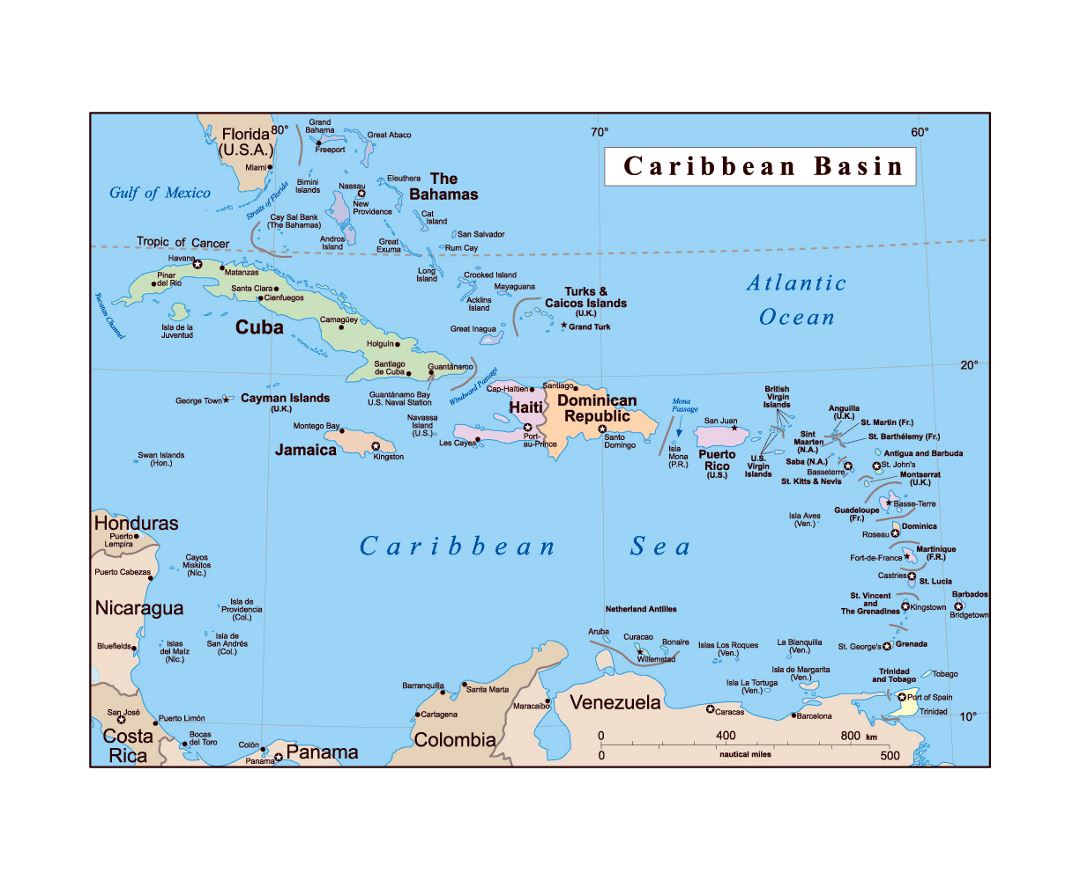 Detailed Map Of The Us Virgin Islands