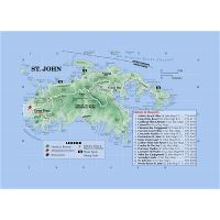 Large tourist map of St. Thomas, US Virgin Islands | US ...