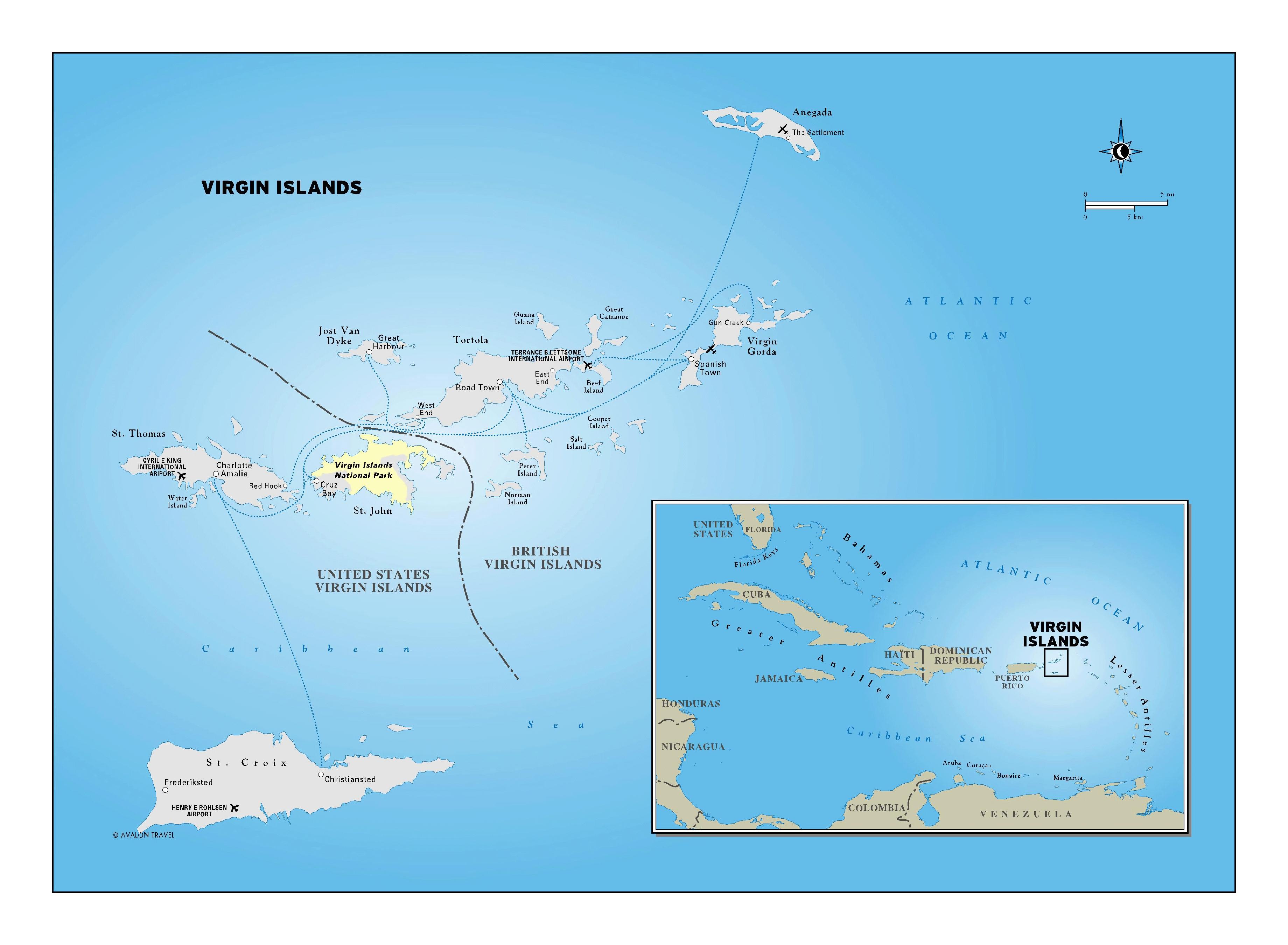 Large detailed political map of Virgin Islands | US Virgin Islands ...