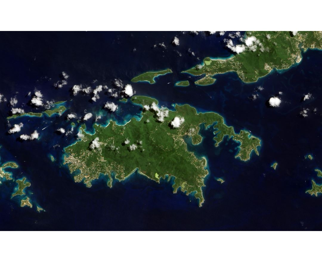 large detailed satellite map of st john island us virgin islands