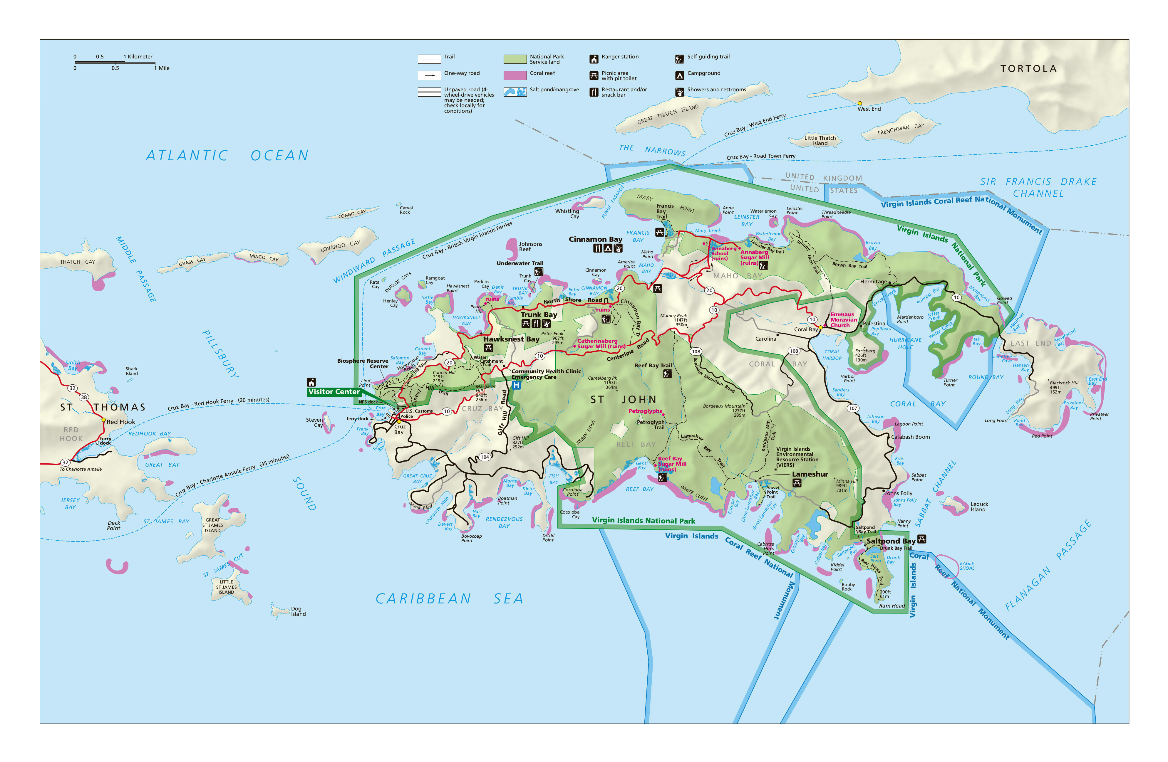Us Virgin Islands Map Phoenix Zip Code Map - Us virgin islands on map