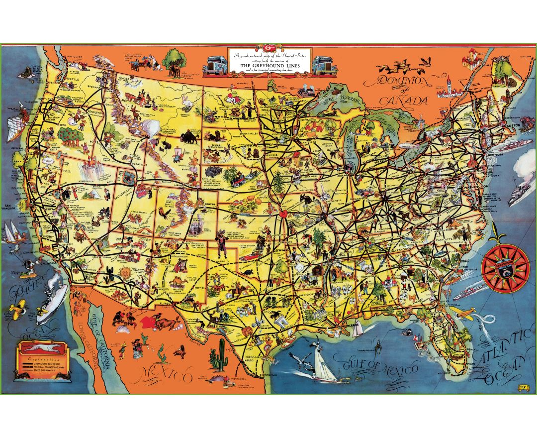 Maps of the United States of America | Collection of maps of the USA Detailed Map Usa on