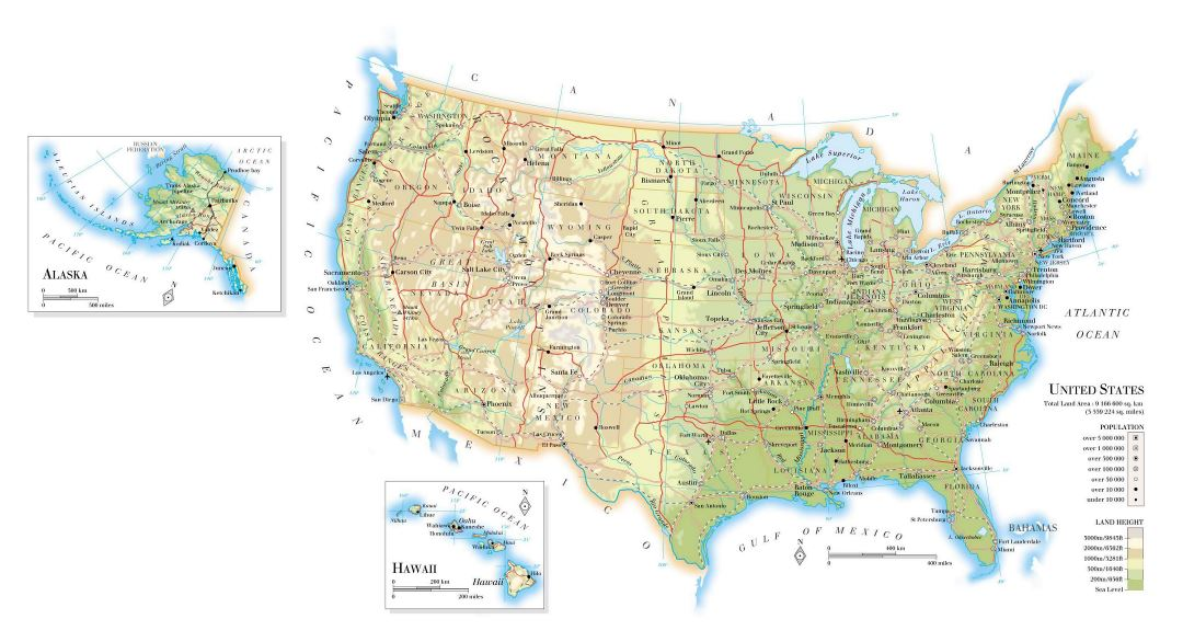 Small map of usa printable us map printable map of usa map for The smallest town in the united states