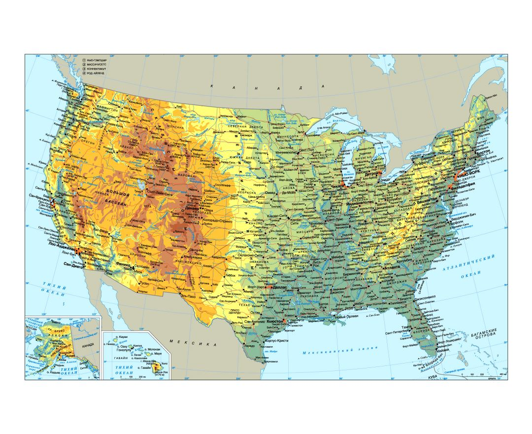 Maps Of USA Detailed Map Of United States Of America In English - Usa map physical