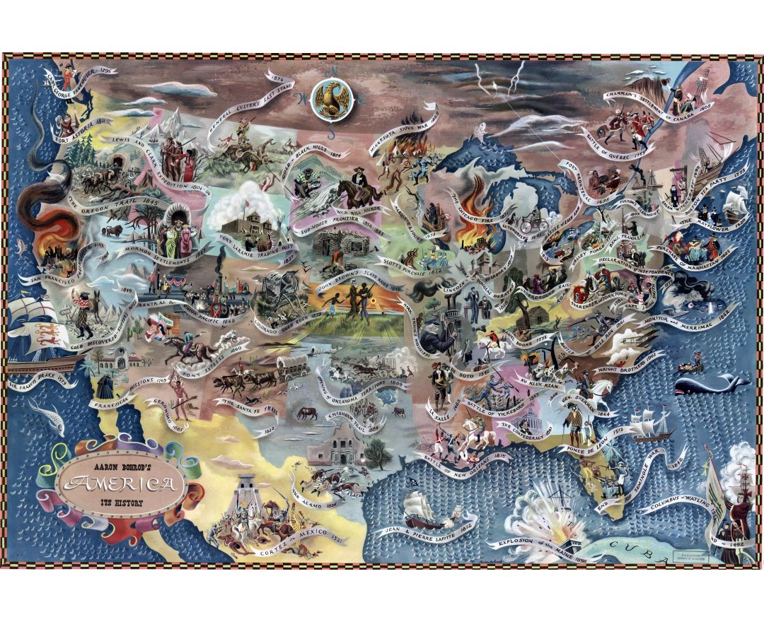 Large Scale Political And Administrative Map Of The USA Usa - Usa detailed map