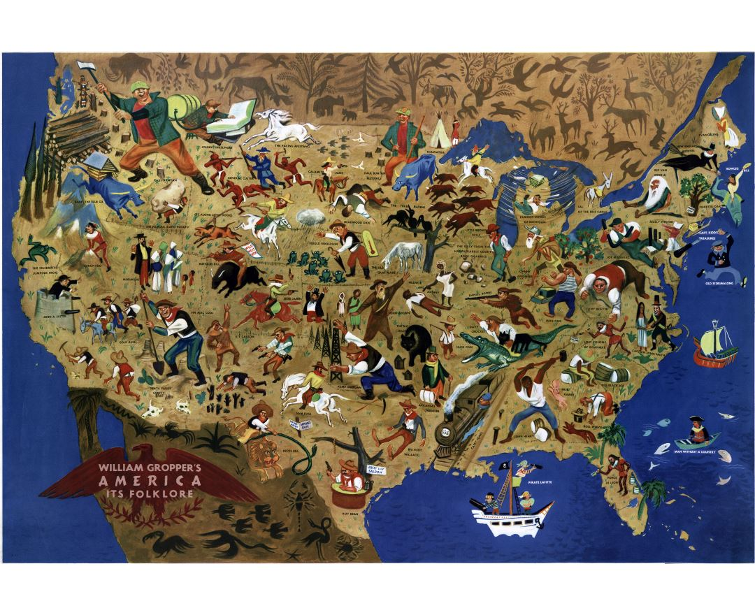 Large Scale Political And Administrative Map Of The USA Usa - Map of usa detailed