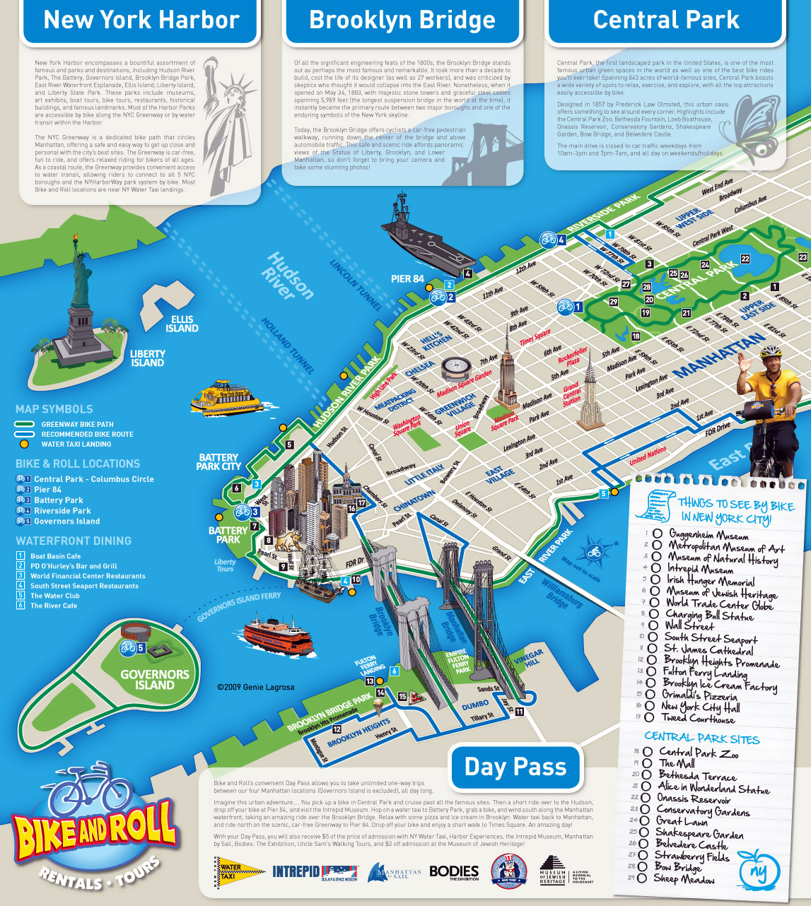 Detailed Alternative New York City Tourist Map New York USA - Alternative us map