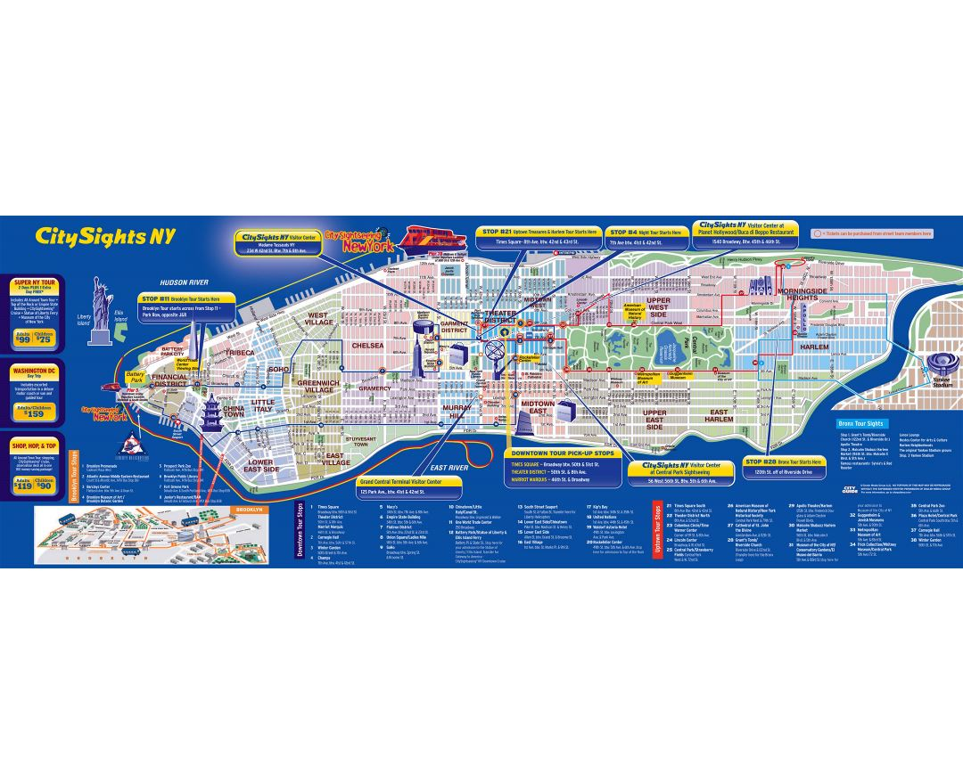 Map Of New York City Tourist Sites.Maps Of New York Collection Of Maps Of New York City Usa United