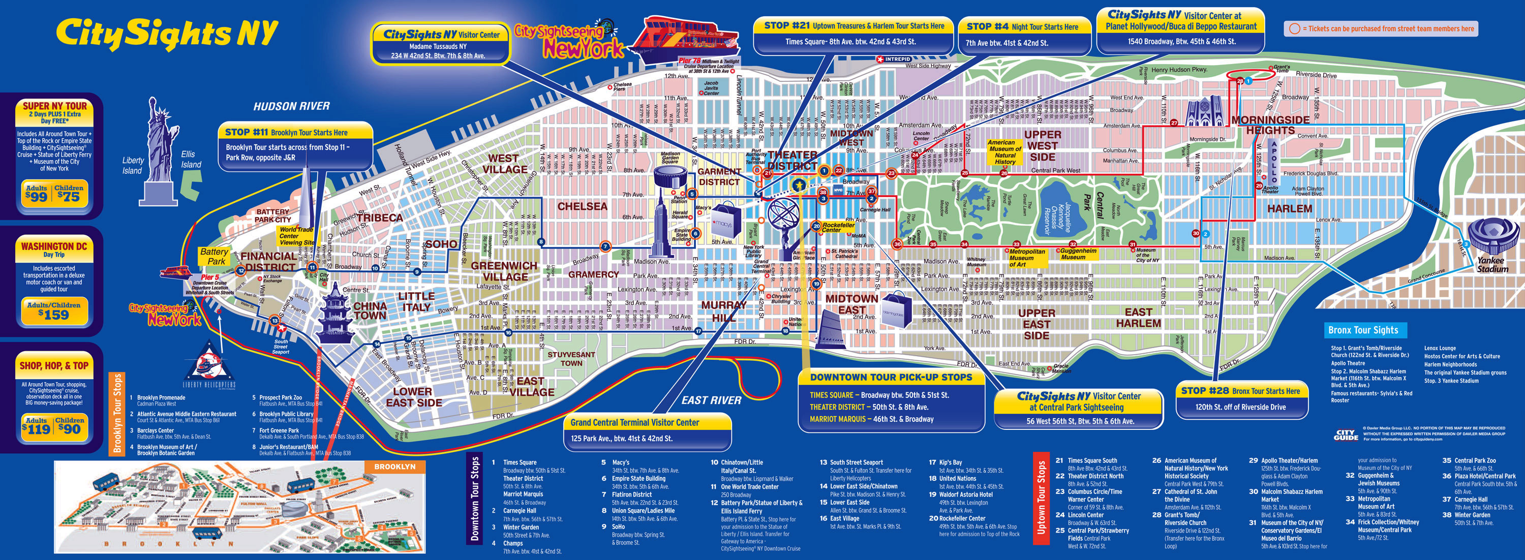 Manhattan Ny Map Large detailed city sights map of Manhattan, New York city | New  Manhattan Ny Map