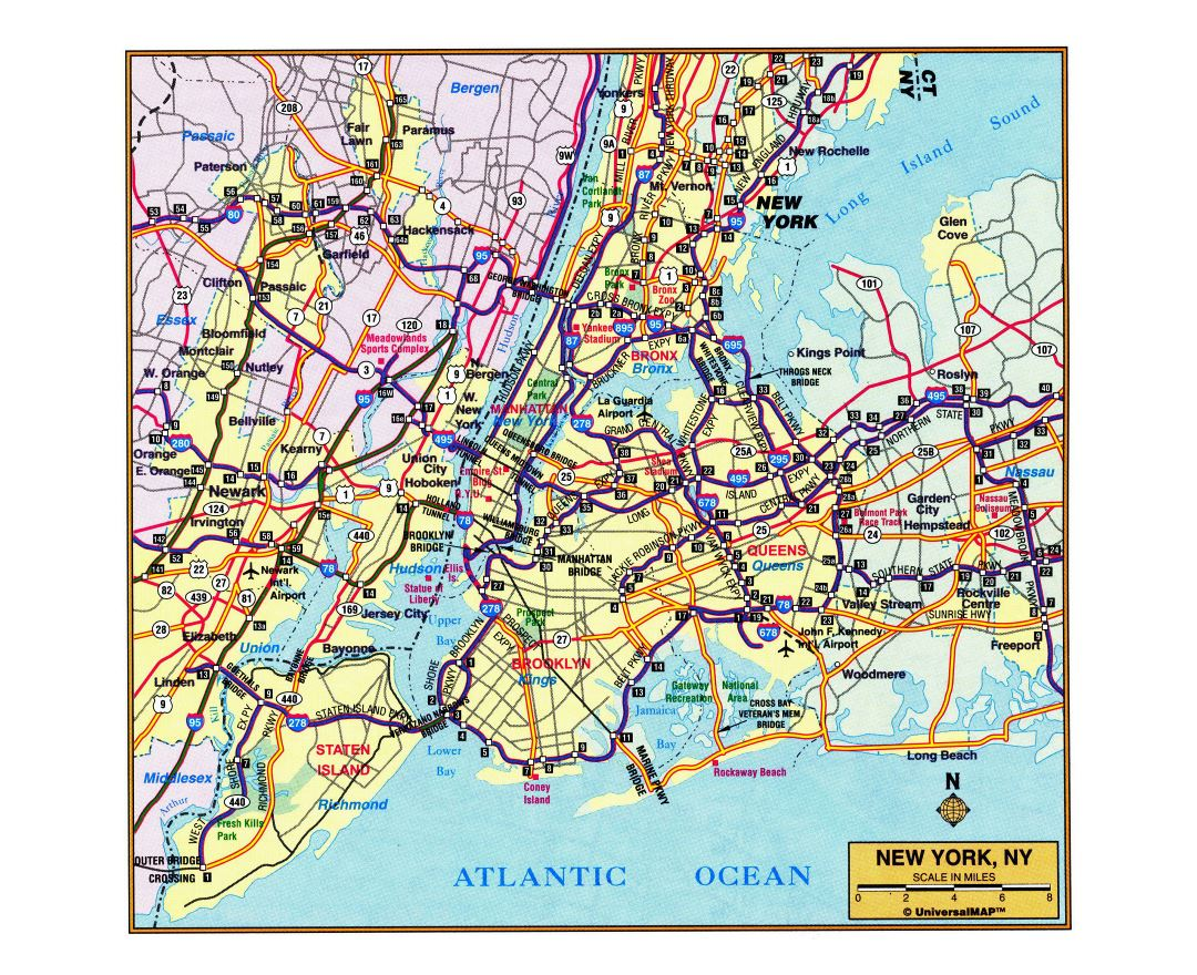 Maps of New York | Detailed map of New York city in English ...