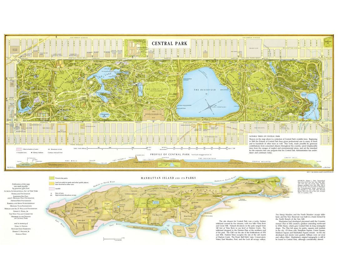 Maps Of New York Detailed Map Of New York City In English - Manhattan island map