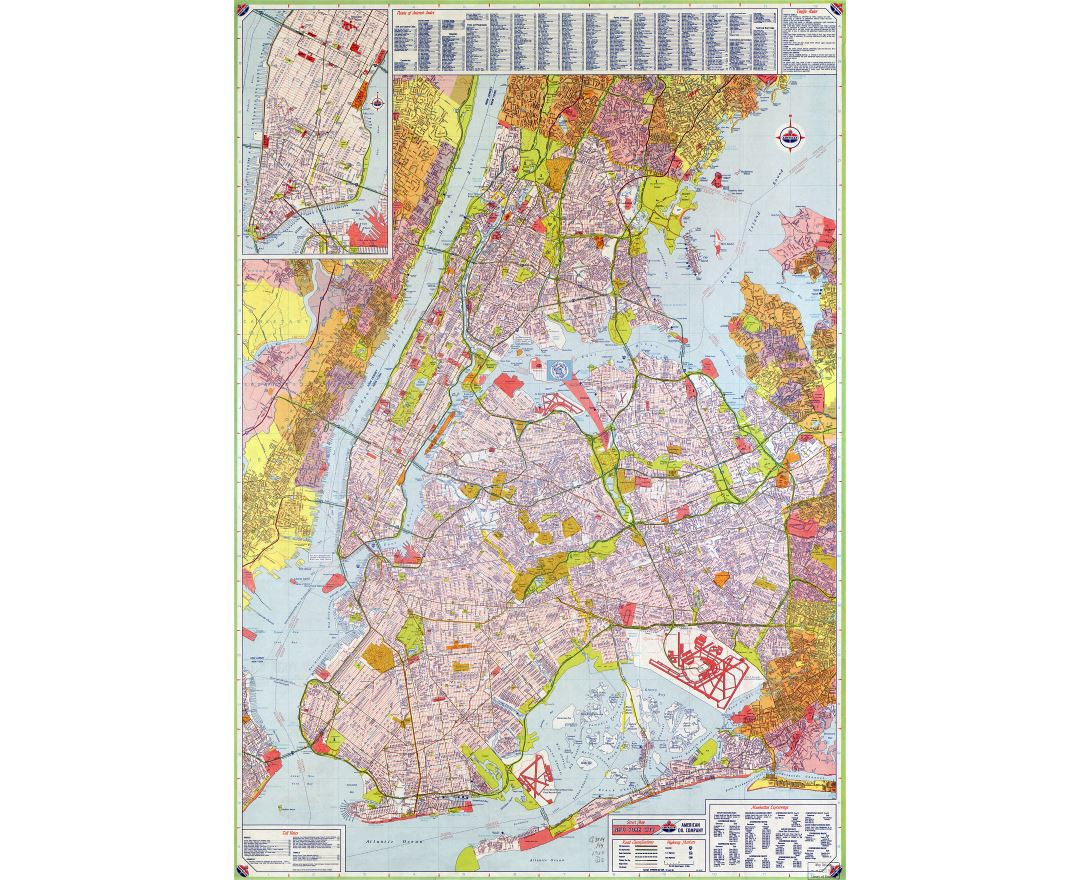 Detailed Map Of New York City.Maps Of New York Collection Of Maps Of New York City Usa United