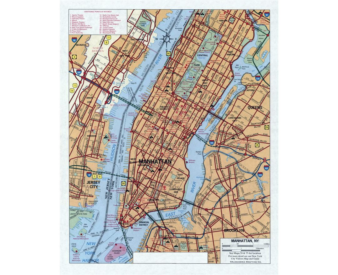 Road Map Of Manhattan.Maps Of New York Collection Of Maps Of New York City Usa United