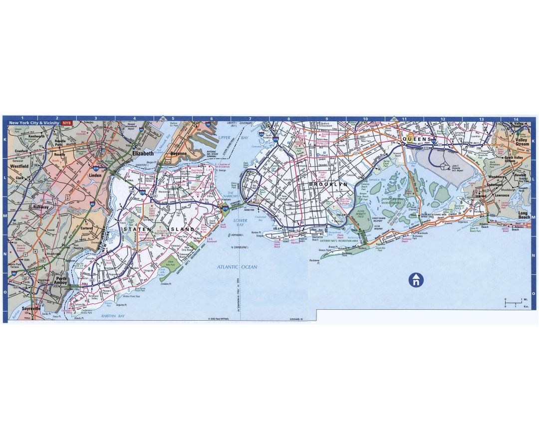 Maps of New York Detailed map of New York city in English
