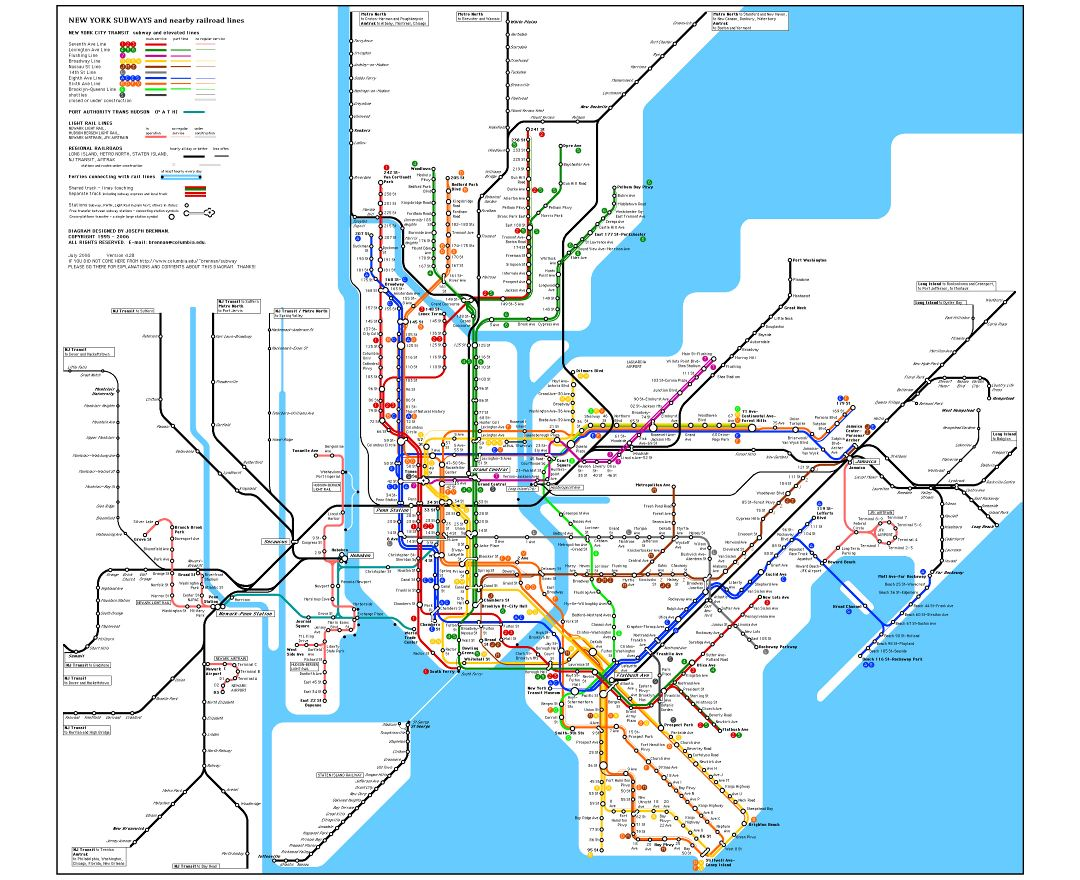 Gmp Subway Map.Maps Of New York Collection Of Maps Of New York City Usa United