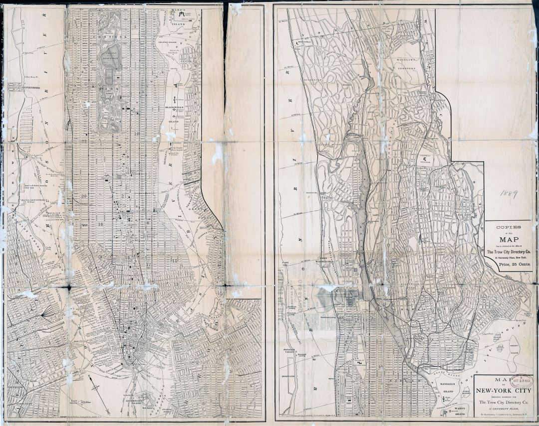 Old Map Of New York.Large Scale Old Map Of New York City 1884 New York Usa United