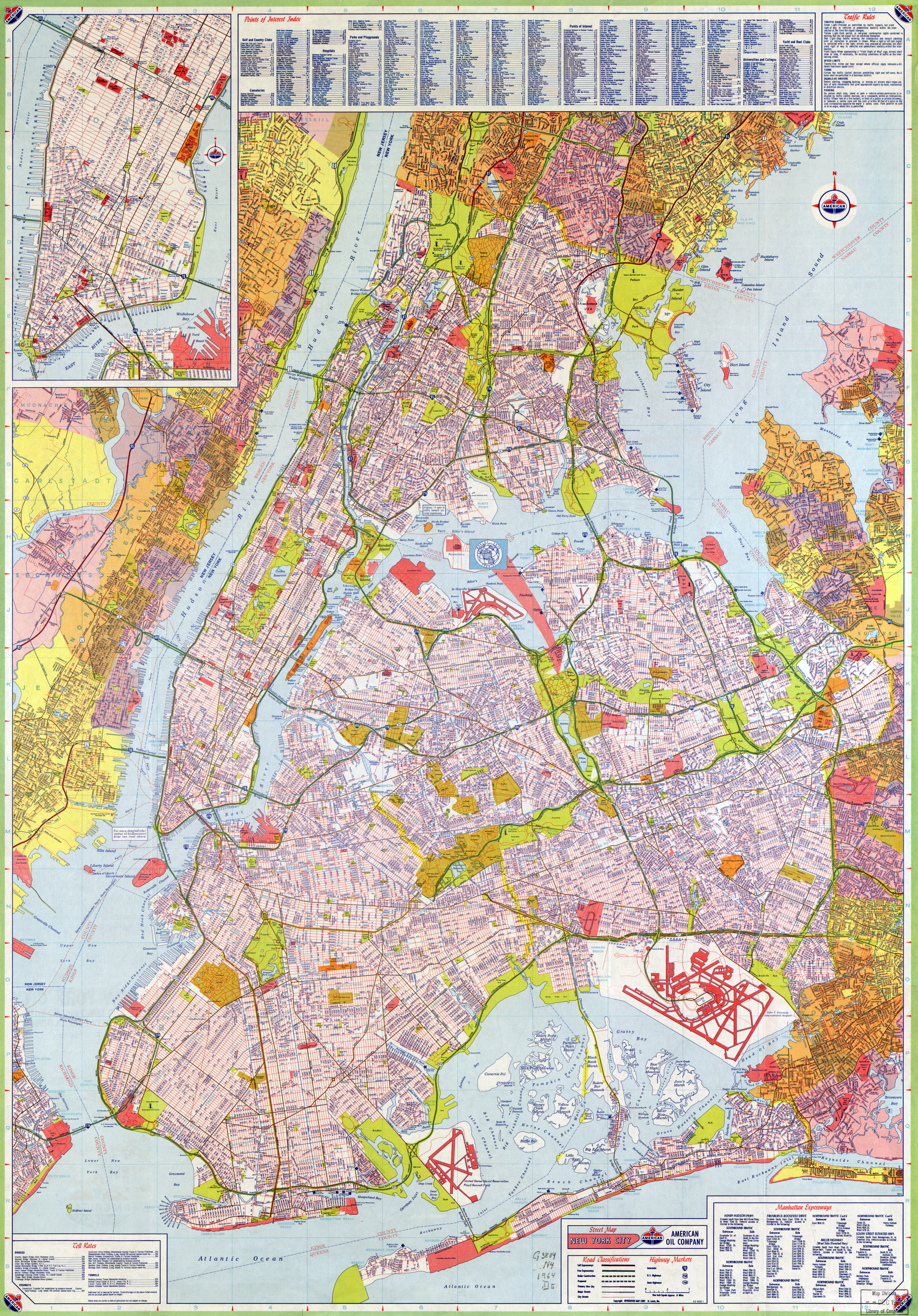 large scale road map of new york city with street names