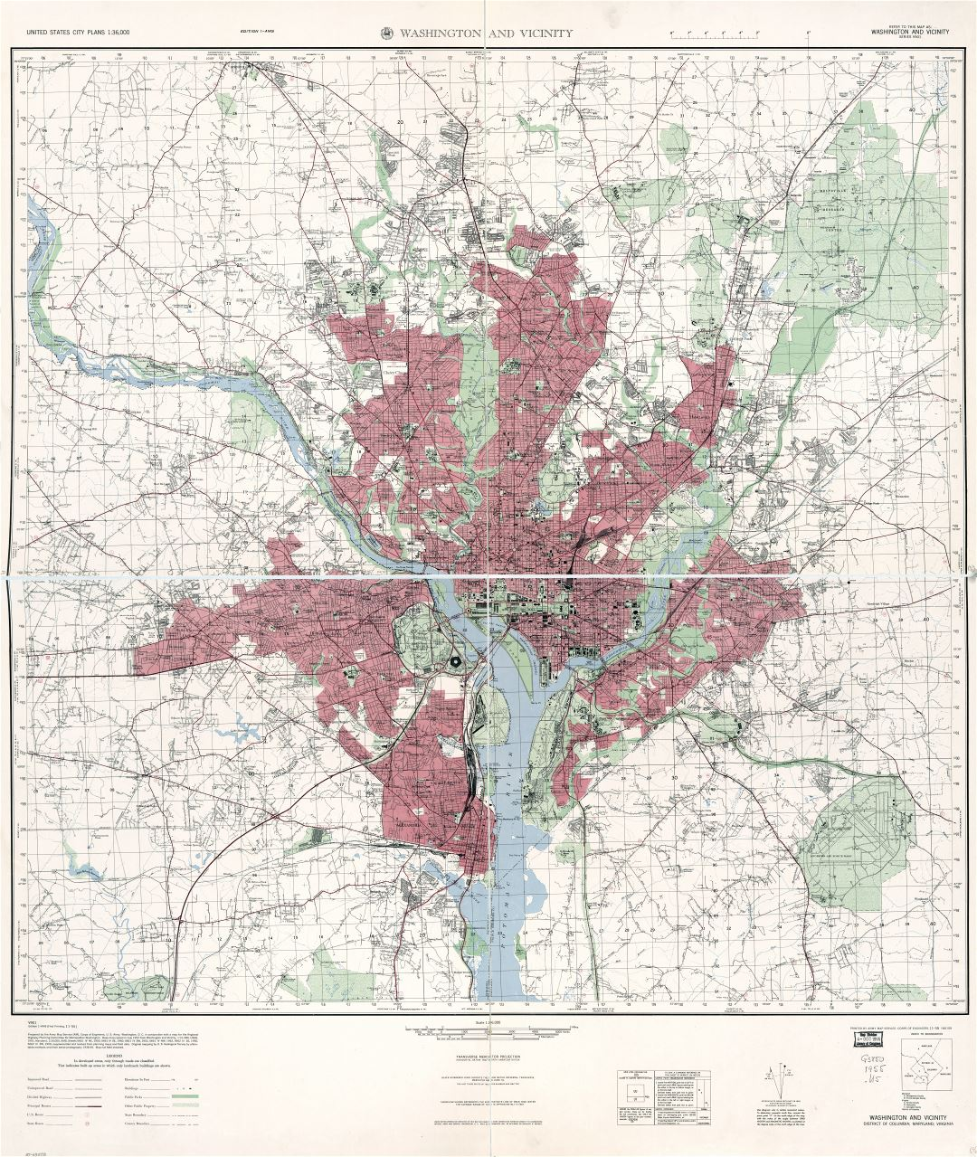 Topographic Map Washington Dc.Large Scale Detailed Topographical Map Of Washington And Vicinity
