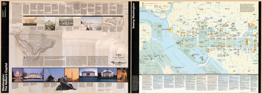 Large scale detailed tourist map of the Washington the Nation's Capital - 2000