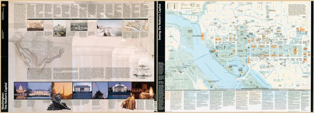 Large scale detailed tourist map of the Washington the Nation's Capital - 2005